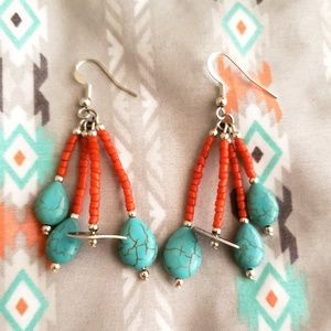 Coral | Shell | Turquoise Earrings